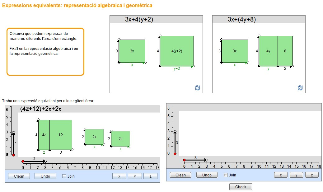 areas and algebraic expressions