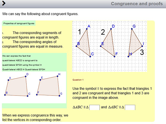 congruence and proof